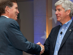 Bill Milliken and Governor Rick Snyder